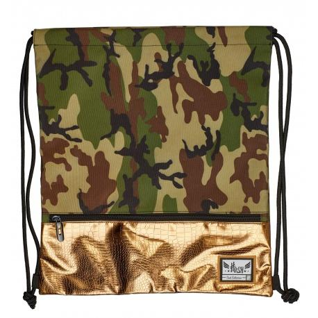 e213907f1 Luxusné vrecúško / taška na chrbát HASH®, Gold Army, HS-127 ...