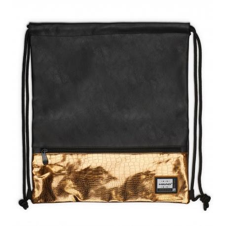 d895a124f Luxusné koženkové vrecúško / taška na chrbát HEAD Black Gold, HD-352 ...