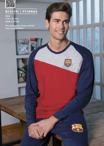 d9db94a57289a Pánske bavlnené pyžamo FC BARCELONA (BC03191) | premiosport.sk