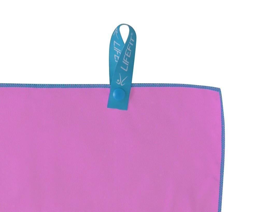761deff98 LIFEFIT rýchloschnúci uterák z mikrovlákna 35x70cm, ružový ...