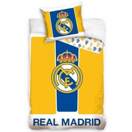 fb48e99a58889 Obojstranné bavlnené obliečky REAL MADRID Yellow Crest (0834 ...