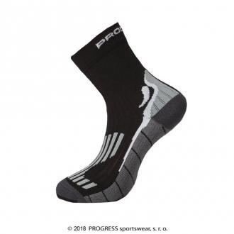 697c68947f9 ... Progress P TRB - TRAIL BAMBOO turistické ponožky s bambusom čierna sivá
