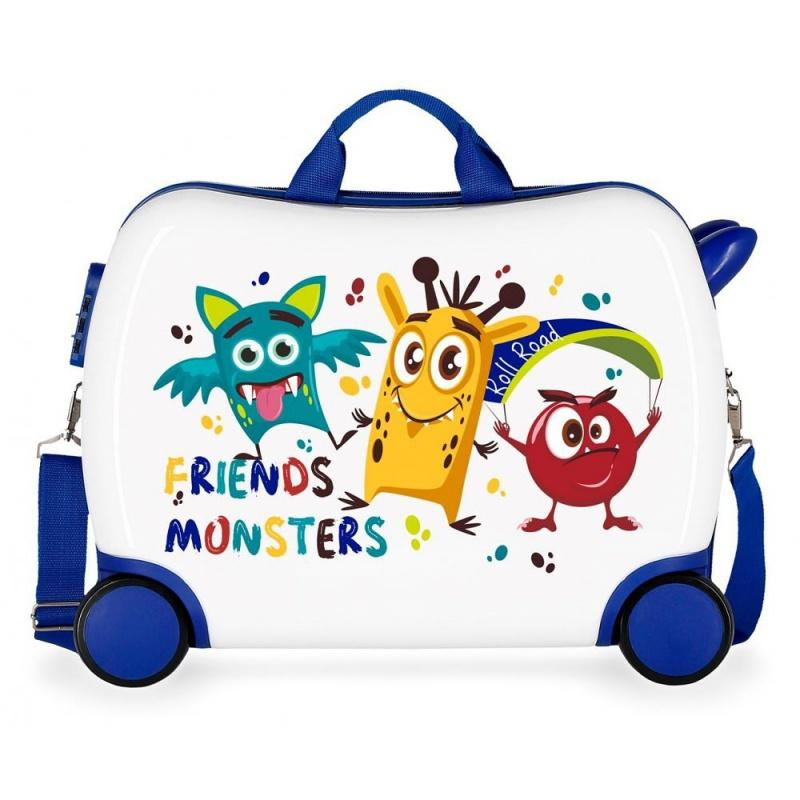 85ae0c4b5bc36 ... JOUMMA BAGS Detský cestovný kufor na kolieskach / odrážadlo FRIENDS  MONSTERS