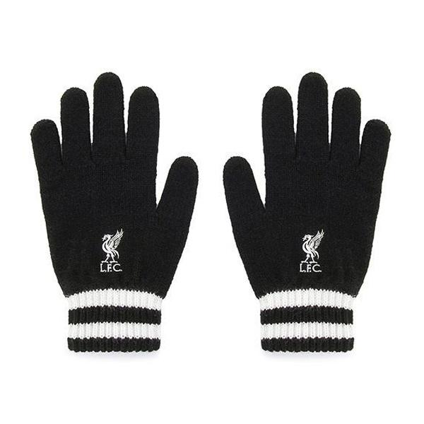 Úpletové rukavice FC LIVERPOOL Black (0558)