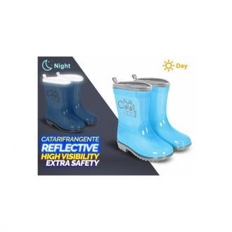 2726dff271af ... PERLETTI® Detské reflexné gumáky COOL KIDS Blue (5418) - 22 23