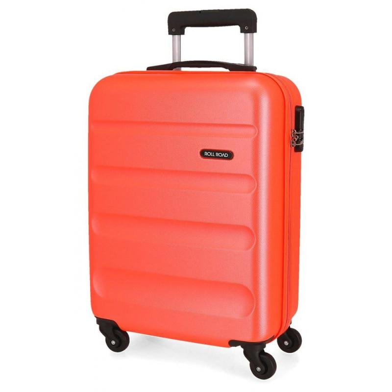 ABS Cestovný kufor ROLL ROAD FLEX Orange Neon, 55x38x20cm, 35L