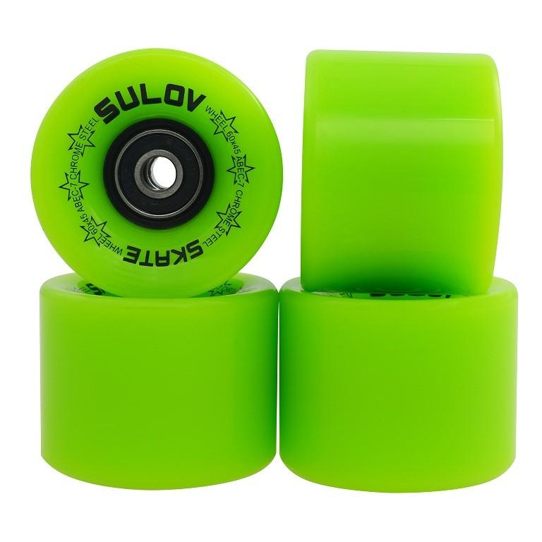 Kolieska Penny board LEMON GREEN 60 x 45mm 85A, sada 4ks, s ložiskami