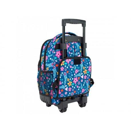 000221e85 SAFTA Školský batoh na kolieskach BLACKFIT8 Flowers | premiosport.sk